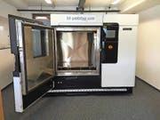 Der grösste 3-D-Drucker der Schweiz nimmt am Montag seinen Betrieb in Buochs auf. (Bild: PD)