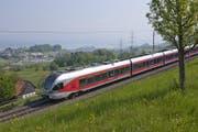 Ein Zug der Südostbahn unterwegs bei Schindellegi. (Bild PD)