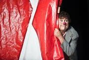 Clown David Larible steht am Dienstag nicht im Zirkuszelt sondern vor Gericht. (Bild: Boris Bürgisser / LZ (Windisch, 22. Juli 2017))
