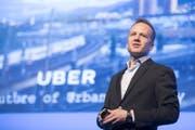 Der Manager von Uber Schweiz, Deutschland und Österreich Rasoul Jalali beim Welttourismus-Forum im KKL in Luzern am Freitag. (Bild: Urs Flüeler / Keystone (Luzern, 5. Mai 2017))