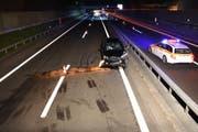 Einer der schweren Unfälle auf der Autobahn. (Bild: Kantonspolizei Nidwalden)