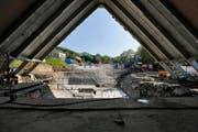 Die Umbauarbeiten an der Kirche St. Thomas sind momentan in vollem Gange. (Bild Stefan Kaiser)