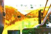 Visualisierung zur Lageorientierung aus Sicht des Piloten. (Bild: Schweizer Armee/VBS)