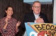 Christian und Roswitha Lang sind das Zunftmeisterpaar der Beggo-Zunft. (Bild: Richard Greuter (Beckenried, 18. November 2017))