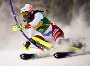 Wendy Holdener im Slalom von Aspen. (Bild: KEYSTONE/FR37383 AP/NATHAN BILOW)