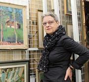 Lotti Etter im Danioth-Archiv, das sich im Haus für Kunst befindet. (Bild: MZ (Altdorf, 6. November 2017))
