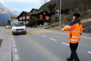 Die Kantonspolizei Uri ist in den Gemeinden vor allem mit Patrouillen präsent. (Bild Urs Hanhart)