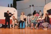 Theater Ennetbürgen spielt 2018 «Rabatz uf em Campingplatz». Im Bild: Ferien auf dem Campingplatz: des einen Freud, des anderen Leid. (Bild: Kurt Zumbühl/PD)