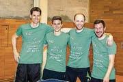 Die Krienser Aufsteiger (von links): Jan Trampus, Philip Merz, Martin Furrer und René Ortner. (Bild: PD)
