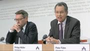 Ständeratskommision zur MEI: Im Bild Ständerat Peter Föhn und Philipp Müller. (Bild: Keystone)