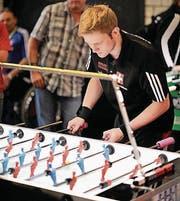 Hannes Wallimann in Aktion im Einzel an der Weltmeisterschaft 2017 in Hamburg. (Bild: PD)