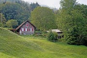 Ohne Baubewilligung saniert: das Ferienhaus auf dem Bodenberg ob Beckenried. (Bild Corinne Glanzmann)