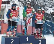 Von links: Leoni Zopp, Norina Mooser und Chiara Bissig. (Bild: PD (Adelboden, Januar 2018))