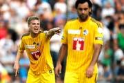 Sehr begrenzte Zukunft beim FC Luzern für die Innenverteidiger Florian Stahel (links) und Tomislav Puljic. (Bild Philipp Schmidli)