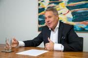 Investor Alexander Studhalter beim Interview am vergangenen Freitag in Luzern. (Bild: Philipp Schmidli)