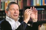 Franz Steinegger beim Interview in seiner Anwaltskanzlei in Altdorf. (Bild: Philipp Schmidli)