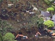 Das Erdbeben auf der japanischen Insel Kyushu vom April war das grösste Einzelereignis im Katastrophenjahr 2016. Es verursachte allein einen wirtschaftlichen Gesamtschaden von zwischen 25 und 30 Milliarden Dollar. (Archiv) (Bild: KEYSTONE/AP Kyodo News/MUNEYUKI TOMARI)