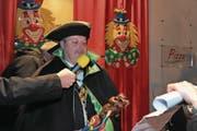 Peter Baumann wird als Prinz Elvelinus LVII das Zepter an der diesjährigen Fasnacht in der Hand haben. (Bild: Urs Hanhart (Andermatt, 3. Februar 2018))