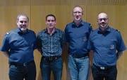 Die Beförderten; von links: Bruno Bär, Patrick Aschwanden, Urs Herwegh und Robi Scheiber. (Bild: PD (Schattdorf, 3. Februar 2018))