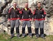 Das heutige Team: (von links) Cyrill Schilter, Firmenchef Josef Schilter junior und Martin Gnos. (Bild: PD)
