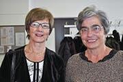 Edith Tobler (links) und Elisabeth Walker. (Bild: Birgit Scheidegger (Ennetmoos, 29. November 2017))