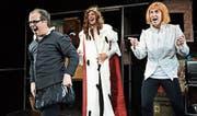 Rekordverdächtig: Drei Schauspieler spielen in anderthalb Stunden 37 Theaterstücke von William Shakespeare.Bild: PD (2017)