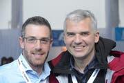 Markus Wolf (links) und Frédéric Füssenich. (Bild: Martin Uebelhart / Neue OZ)