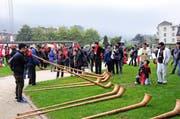 Die Gäste aus Asien sind in Engelberg weiter im Vormarsch. (Bild Philipp Unterschütz)