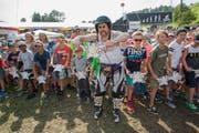 Kari Kreidler am Kids Rennen. (Bild: André A. Niederberger)
