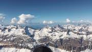 Himmlisch: Diesen Ausblick genoss Philipp Steinger auf seinem Rekordflug. (Bild: PD)