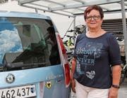 Ursi Gisler macht ihre Urner Herkunft auch am Auto deutlich. (Bild: Carmen Epp (Altdorf, 23. August 2017))