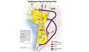 Das Projekt Stadttunnel Zug. (Bild: Baudirektion Kanton Zug / Janina Noser Neue ZZ)
