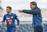 FCL-Trainer Gerardo Seoane (rechts): Am Samstag hat er seine Premiere in der Super League. (Bild:)