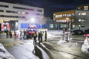 Im Spitallabor in Sitten ereignete sich ein Chemieunfall. (Bild: Dominic Steinmann/Keystone)