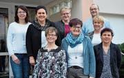 Der Vorstand der FMG Schattdorf; von links: Neumitglied Regula Gisler, Präsidentin Marietta Rixen, Sandra Gisler, Silvia Bunschi, Daniela Gisler, Präses German Betschart, Monika Stadler und Susanne Imhof. (Bild: PD (Schattdorf, 27. Februar 2018))