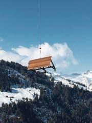 Die Eisenpalisaden wurden im Hang angebracht, um zu verhindern, dass das Geröll ins Tal donnert. (Bild: Ruedi Brand (Spiringen, 30. März 18))