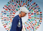 Christine Lagarde, Chefin des Internationalen Währungsfonds (IWF), in Washington. (Bild: Shawn Thew/Keystone (13. Oktober 2017))
