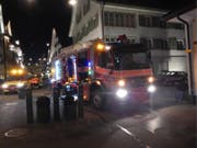 Der Brand im WC konnte durch die Feuerwehr rasch gelöscht werden. (Bild: Feuerwehr Küssnacht)