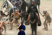 Der Regisseur, Ridley Scott (links), und sein arg beanspruchter Hauptdarsteller, Christina Bale.PD (Bild: PD)