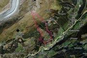 Martisberg (rote Markierung) ist an Silvester auf dieser Karte noch als eigenständige Gemeinde eingezeichnet. (Bild: map.search.ch)