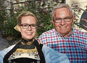 Stefi Odermatt und Bruno Birrer. (Bild: Robert Hess (30. Juli 2017))