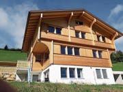 Ein ökologisches Holzhaus in Stalden. (Bild: PD)