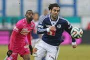 Hat in dieser Saison für Lausanne in der Challenge League bereits 13 Tore erzielt: Cristian Ianu. (Bild: Keystone/Jean-Christophe Bott)