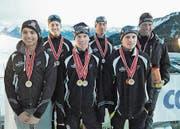 Erfolgreich und medaillengeschmückt kehrten die Urner Athleten aus Obwalden zurück. (Bild: PD (Langis, 6. Januar 2018))