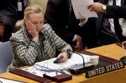 Hillary Clinton im Jahr 2012 als sie noch US-Aussenministerin war. (Bild: AP Photo/Richard Drew, File)
