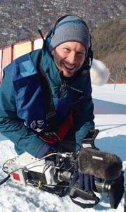Martin Felix, Kameramann aus Kerns, an den Olympischen Winterspielen in Pyeongchang. (Bild: PD)