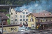 Das ehemalige Restaurant Bahnhöfli in Gurtnellen Wiler musste nach dem verheerenden Brand im Jahr 2011 abgerissen werden. (Bild: pd (Gurtnellen Wiler, 30. August 2011))
