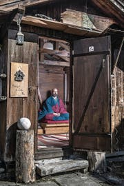 Marcel Reding in seinem Zen-Tempel. (Bild: Boris Bürgisser (Einsiedeln, 16. März 2017))