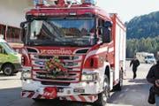 Eines der beiden neuen Universallöschfahrzeuge der Schadenwehr Gotthard. (Bild: gw (Airolo, 6. Oktober 2017))