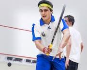 Ist derzeit beim Schweizer Squash-Ranking auf Rang 20 platziert: der 19-jährige Amadeo Costa aus Obernau. (Bild Stefan Kleiser)